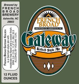 French Broad Gateway Kolsch Can Case (12oz - Box of 24)