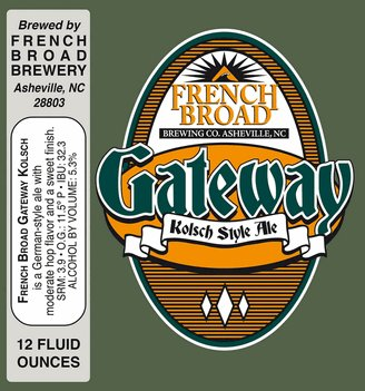 French Broad French Broad Gateway Kolsch Can Case (12oz - Box of 24)