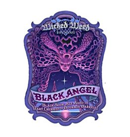 Wicked Weed 'Black Angel' Black Sour Ale aged on Cherries in Bourbon Barrels 500ml