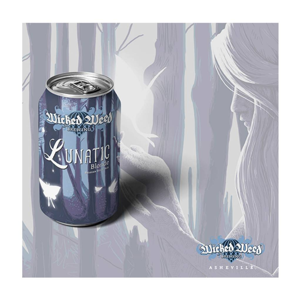 Wicked Weed 'Lunatic' Belgian Blonde Ale 12oz (Can)