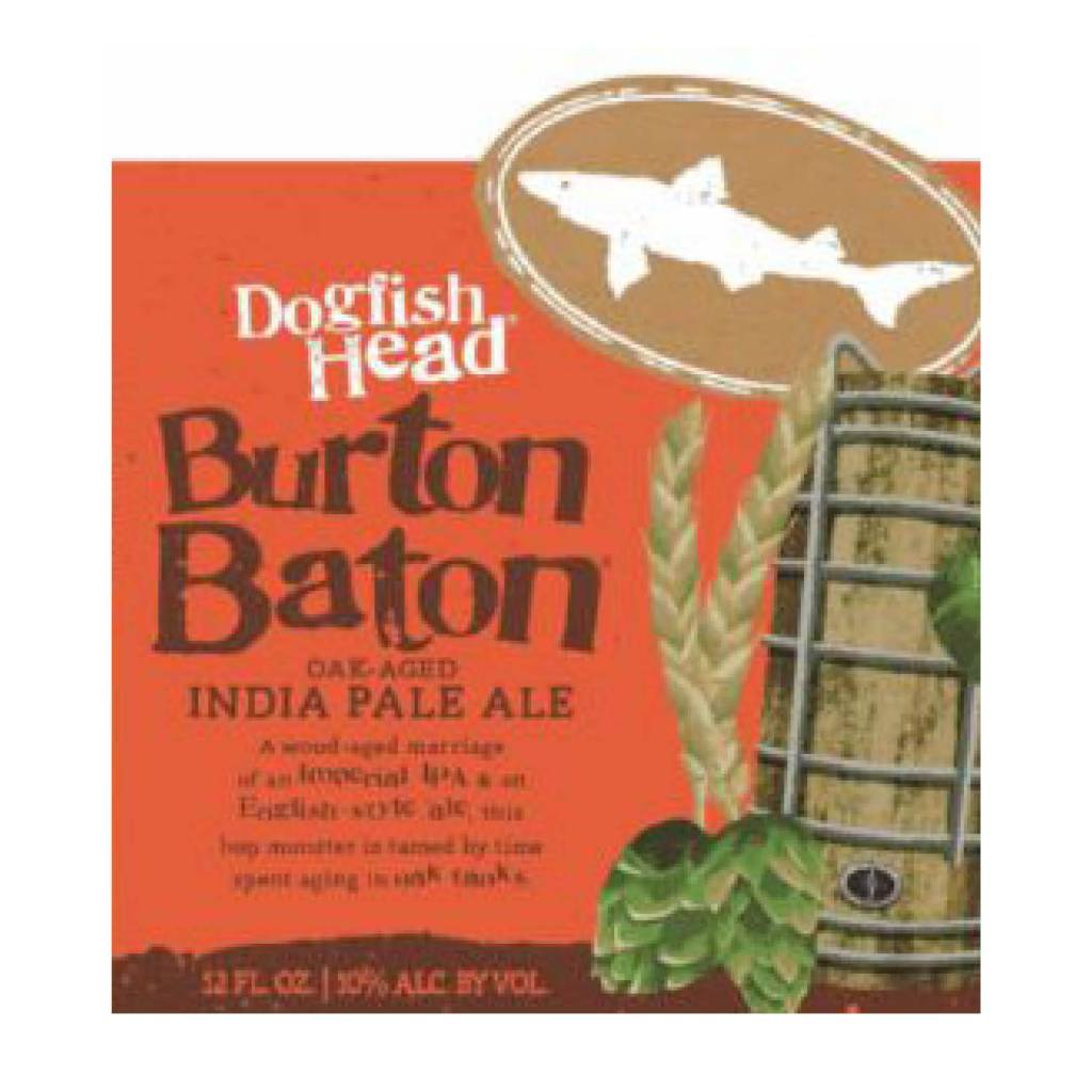 Dogfish Head 'Burton Baton' Oak Aged DIPA 12oz Sgl
