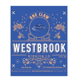 Westbrook 'One Claw' Rye Pale Ale 12oz Sgl (Can)