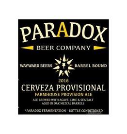 Paradox 'Cerveza Provisional' Mezcal Barrel-aged Sour Ale 500ml