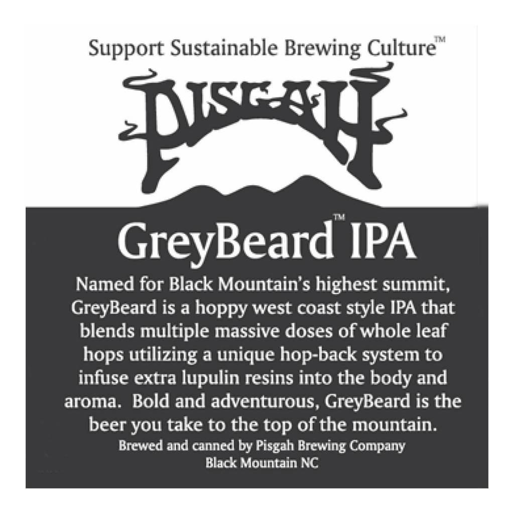 Pisgah 'Greybeard IPA' Case (12oz - Box of 24)