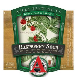 Avery 'Raspberry Sour' Sour Ale Aged in Oak Barrels 22oz