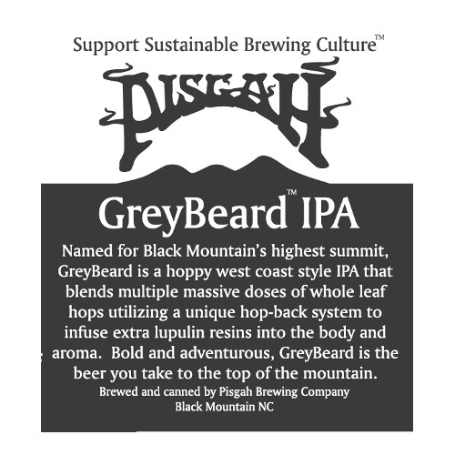 Pisgah 'Greybeard IPA' 12oz Sgl (Can)