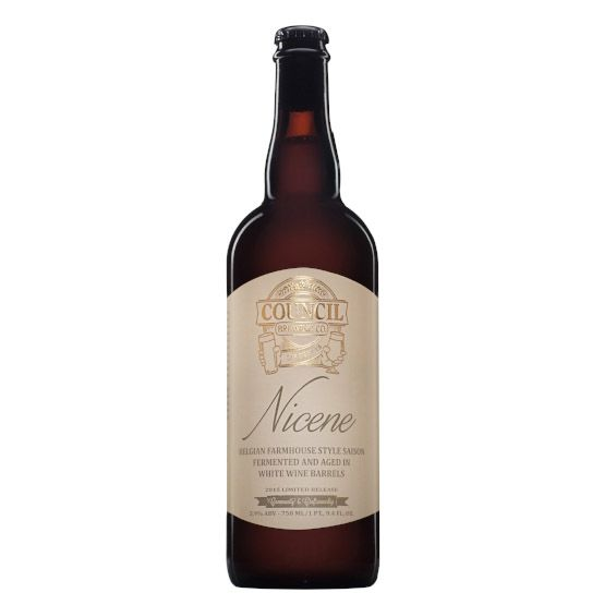 Council 'Nicene' Farmhouse Ale aged in White Wine Barrels 750ml