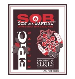 Epic 'Son of a Baptist' Coffee Stout w/ Cacao Nibs 12oz Sgl (Can)