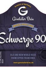 Ganstaller 'Schwarze 90' Imperial Stout Lager 330ml