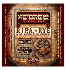 Shmaltz He'Brew 'RIPA on Rye' Imperial IPA (Rye Whiskey barrels) 22oz