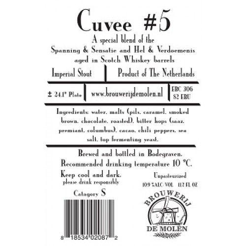 De Molen 'Cuvee #5' Barrel Aged Imperial Stout 330 ml Sgl