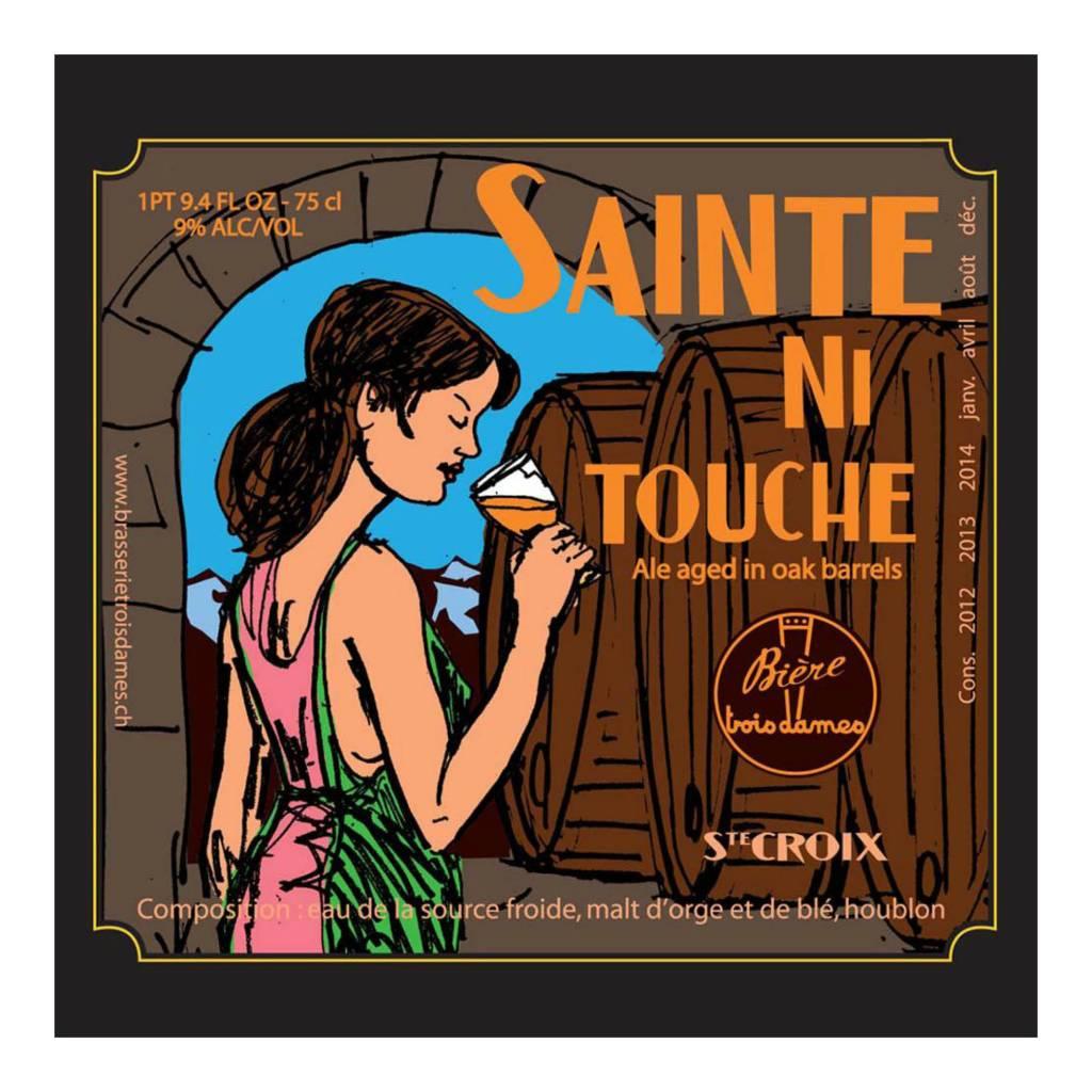 Trois Dames 'Sainte Ni Touche' Sour Barrel-aged Double IPA 750ml