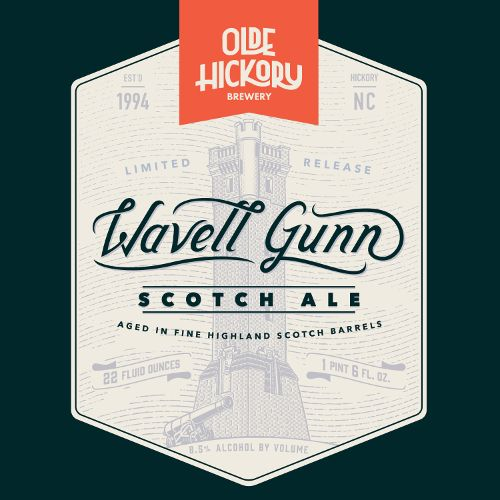 Olde Hickory 'Wavell Gunn' Barrel Aged Scotch Ale 22oz