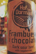 Hof Ten Dormaal 'Frambuesa i chocolate' Dark Sour Beer w/ Raspberries 11.2oz Sgl