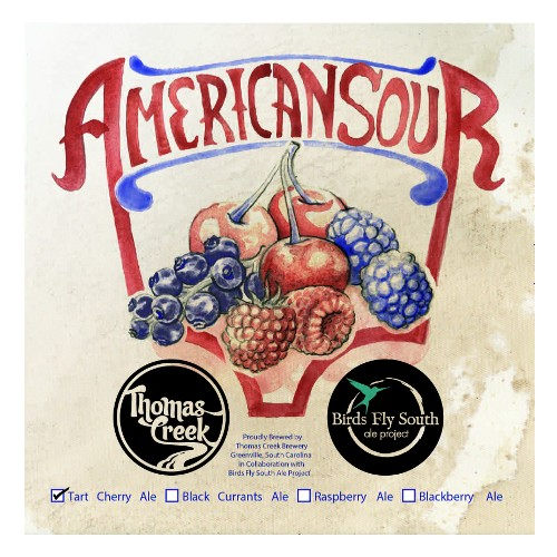 Birds Fly South x Thomas Creek 'American Sour: Tart Cherry' Ale 750ml