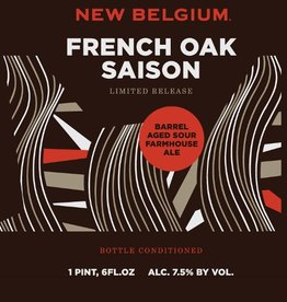 New Belgium 'French Oak Saison' Barrel Aged Sour Farmhouse Ale 22oz
