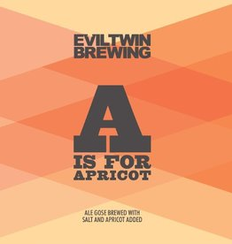 Evil Twin 'A is for Apricot' Gose 12oz Sgl (Can)