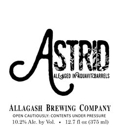 Allagash 'Astrid' Ale Aged in Aquavit Barrels 375ml