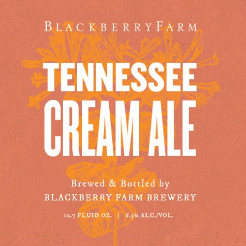 Blackberry Farm 'Tennessee Cream Ale' Wild Farmhouse Ale 750 ml