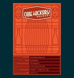 Olde Hickory 'Flanders Red' Sour Ale Aged in Bourbon Barrels 22oz