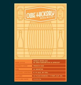 Olde Hickory Brewery 'Wheat Wine' with Brettanomyces & Apricot 22oz