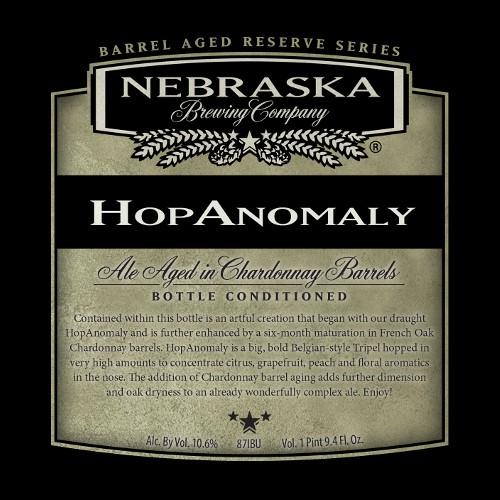 Nebraska 'HopAnomaly' Ale Aged in Chardonnay Barrels 750ml