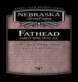 Nebraska 'Fathead' Barleywine aged in Whiskey Barrels 750ml