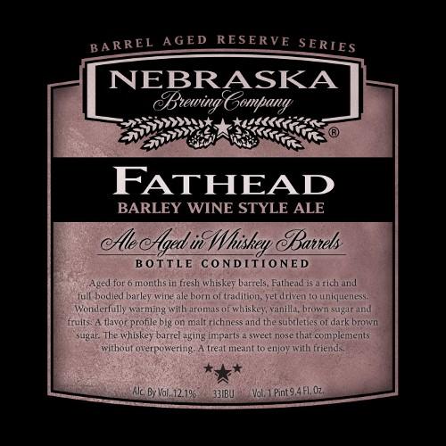 Nebraska 'Fathead' Barleywine aged in Whiskey Barrels 750ml