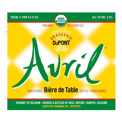 Dupont 'Avril' Biere de Table 750ml