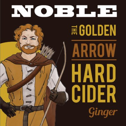 Noble Cider 'Golden Arrow' Ginger Cider 12oz Sgl