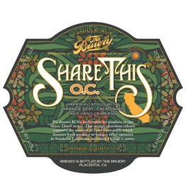 The Bruery 'Share This:  OC' Imperial Stout 750ml