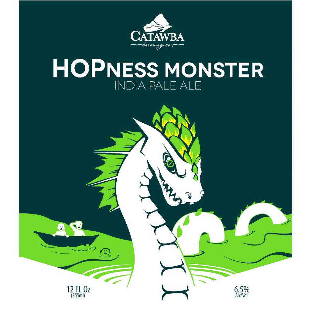 Catawba 'Hopness Monster' IPA 12oz Sgl