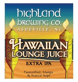 Highland Brewing Company 'Hawaiian Lounge Juice'  Extra IPA 12oz Sgl