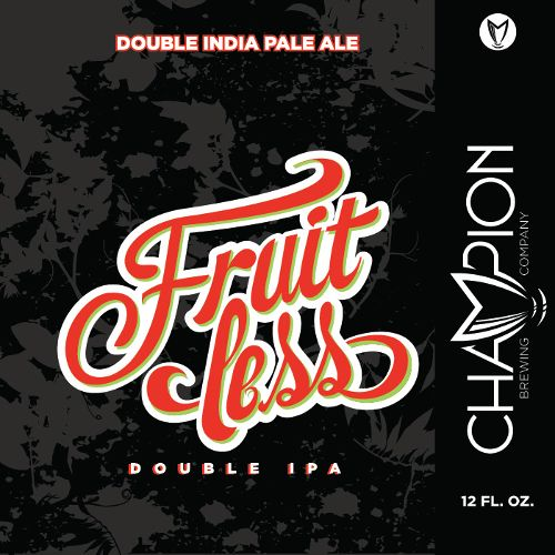 Champion 'Fruitless' Double IPA 12oz Sgl (Can)