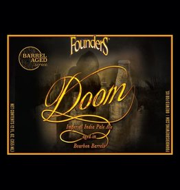 Founders 'Doom' Imperial IPA aged in Bourbon Barrels 12oz Sgl