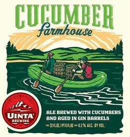 Uinta 'Cucumber Farmhouse' Gin Barrel-aged Saison 22oz