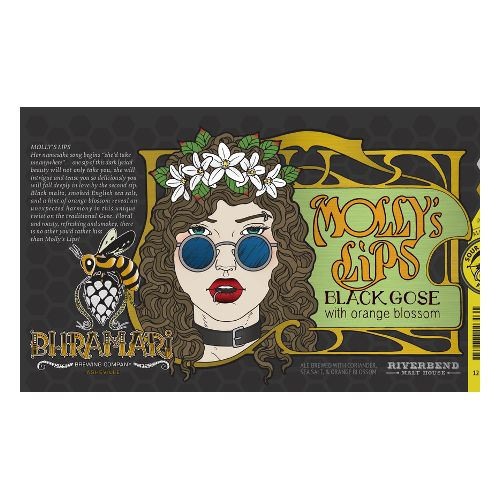 Bhramari 'Mollys Lips' Black Gose w/ Orange Blossom 12oz Sgl (Can)