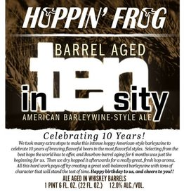 Hoppin' Frog 'Barrel Aged In-Ten-Sity' Barleywine 22oz