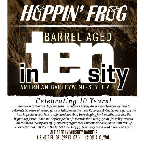 Hoppin' Frog 'Barrel Aged In-Ten-Sity' Barleywine 22oz
