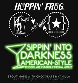 Hoppin' Frog 'Sippin Into Darkness' Chocolate & Vanilla Imperial Stout 22oz