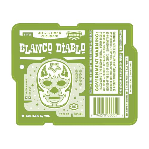 Big Boss 'Blanco Diablo' Cucumber Lime Ale 12oz Sgl