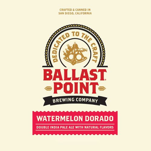 Ballast Point 'Watermelon Dorado' Double IPA 12oz Sgl