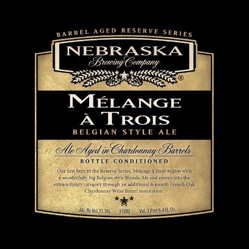 Nebraska 'Melange a Trois' Ale Aged in Chardonnay Barrels 750ml