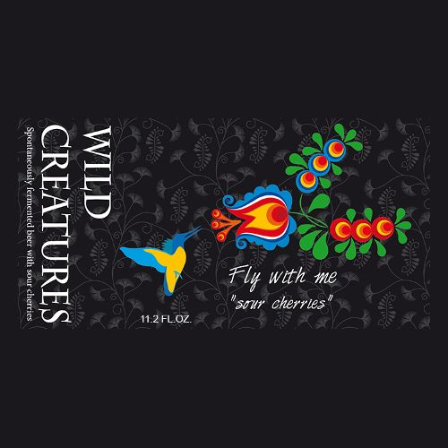 Wild Creatures 'Fly With Me' Barrel-aged Wild Ale with Cherries 11.2oz Sgl