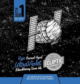 Ecliptic 'Rye Whiskey Barrel-Aged Ultra Violet' Blackberry Sour Ale 22oz