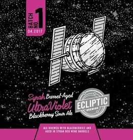 Ecliptic 'Syrah Barrel-aged Ultra Violet' Blackberry Sour Ale 22oz