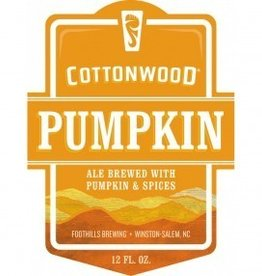 Foothills 'Cottonwood Pumpkin Ale' 12oz Sgl