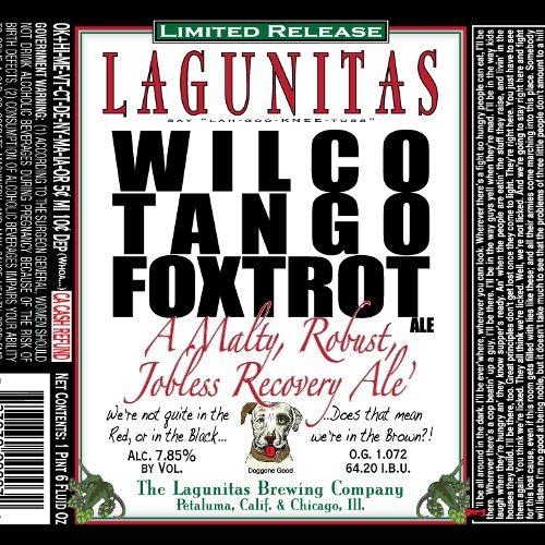 Lagunitas 'Wilco Tango Foxtrot' 22oz