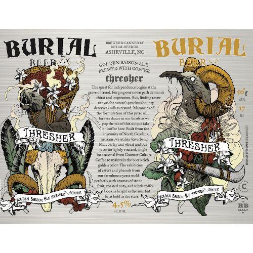 Burial 'Thresher' Coffee Saison 16oz Sgl (Can)