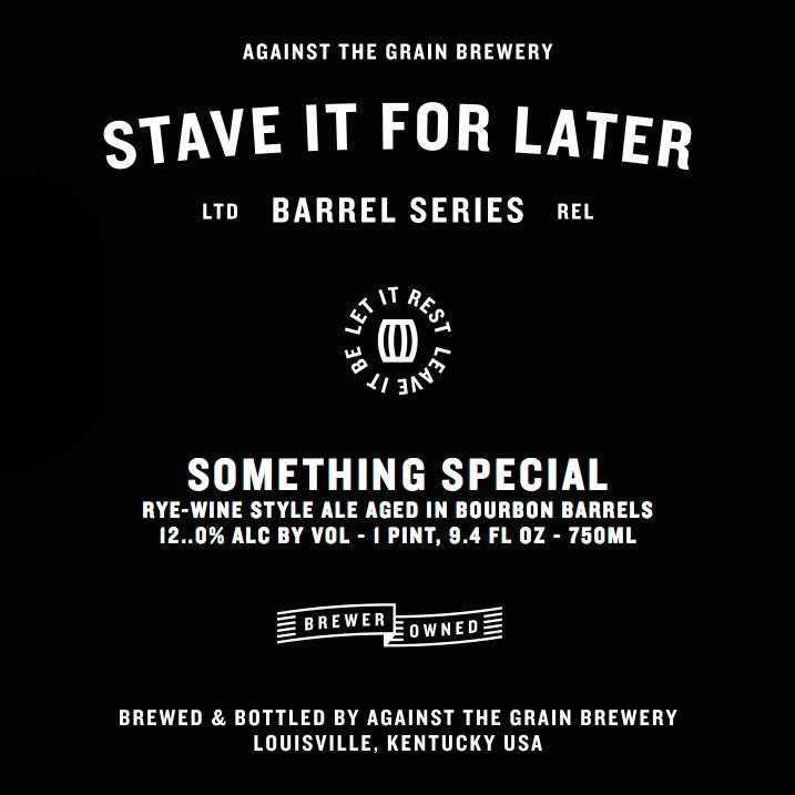 Against the Grain 'Something Special' Rye-wine aged in Bourbon Barrels 750ml